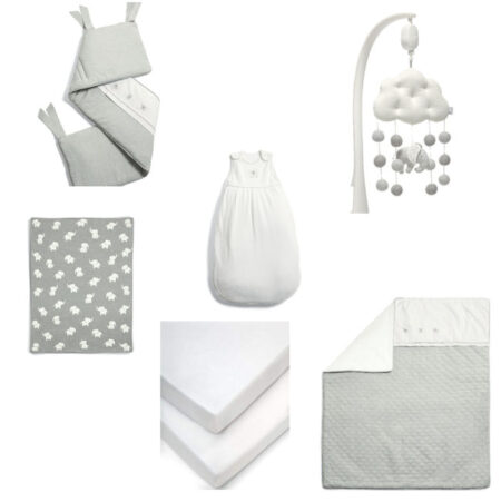 Mamas & Papas Welcome To The world 6 piece bundle with Bumper - Elephant