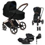 cybex Priam stroller bundle black rose