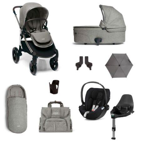 Mamas & Papas Ocarro 9 piece Kit Cybex Cloud Z Car Seat - Woven Grey