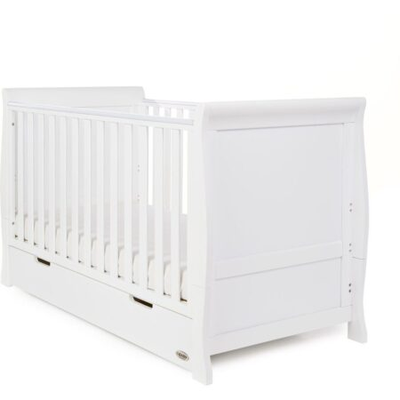 Obaby Stamford Sleigh Cot Bed - White