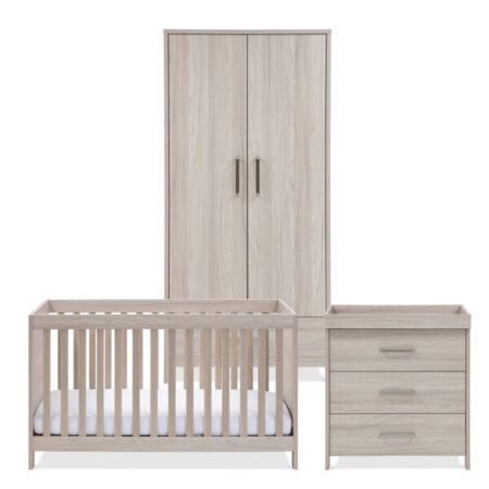 Silver Cross Ascot 3 Piece Full Nursery Furniture Set