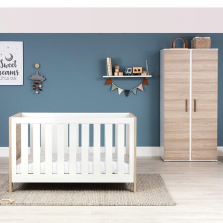 Silver Cross Finchley 2 Piece Nursery Furniture Set Cot bed Wardrobe