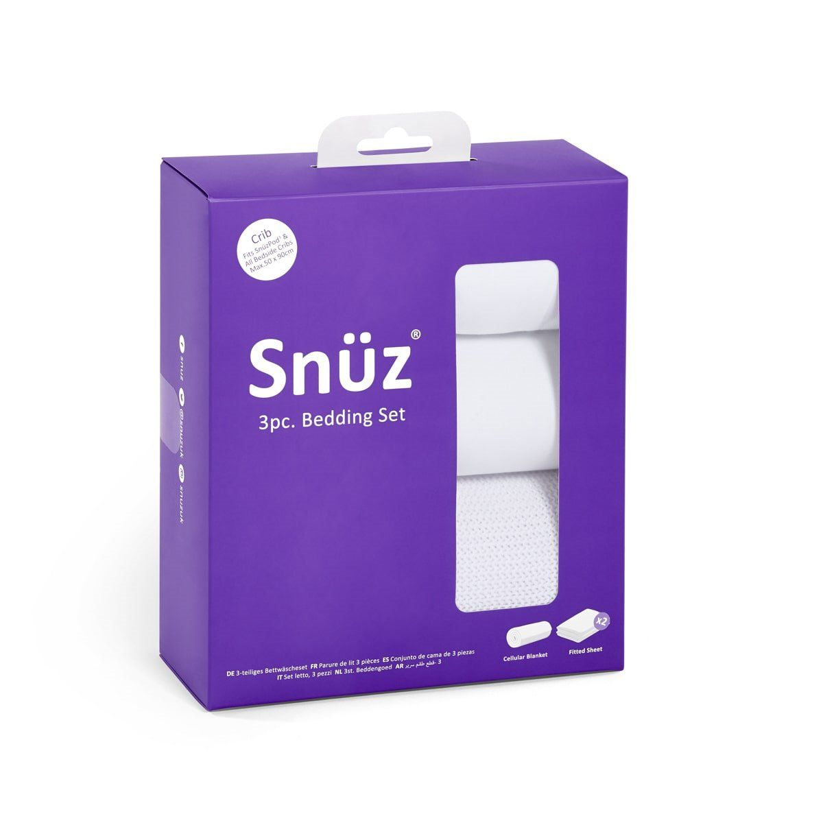 snuzpod white boed set 3 piece