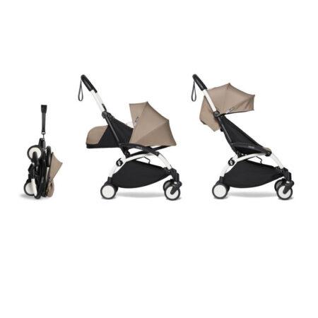 Babyzen YOYO2 Complete Stroller & Newborn 0+ pack- Taupe / White Frame