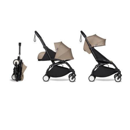 Babyzen YOYO2 Complete Stroller & Newborn 0+ pack- Taupe / Black Frame