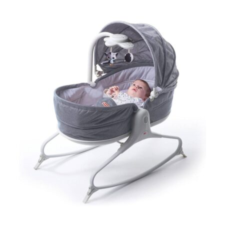 Tiny Love Cozy Rocker Napper Crib and Chair in Grey