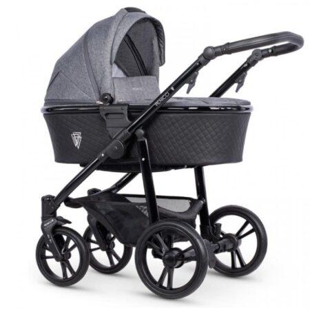 Venicci Shadow 2.0 Denim Grey Pushchair, Carrycot & Car Seat