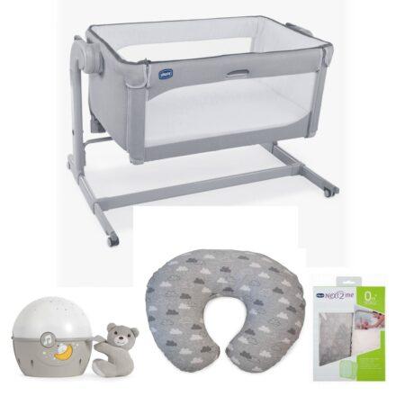 Chicco Next 2 me MAGIC 2 Drop Bed Side Crib Bundle 2021 - Cool Grey