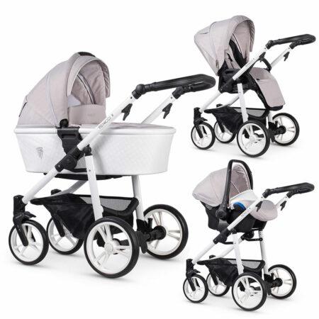 Venicci Pure Vanilla 2.0 Pushchair, Carrycot & Car Seat