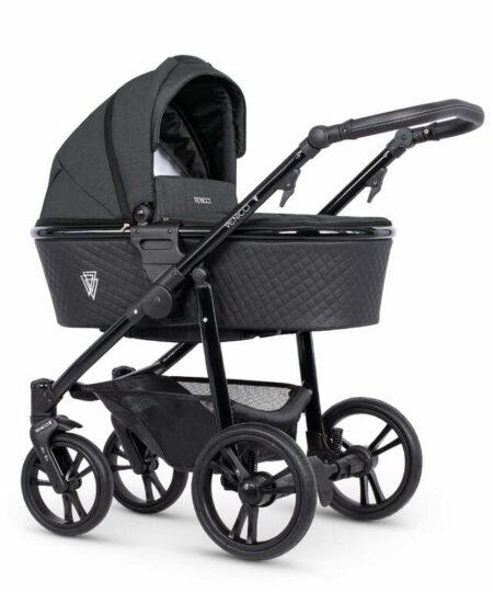 Venicci Shadow 2.0 Charcoal Pushchair, Carrycot & Car Seat
