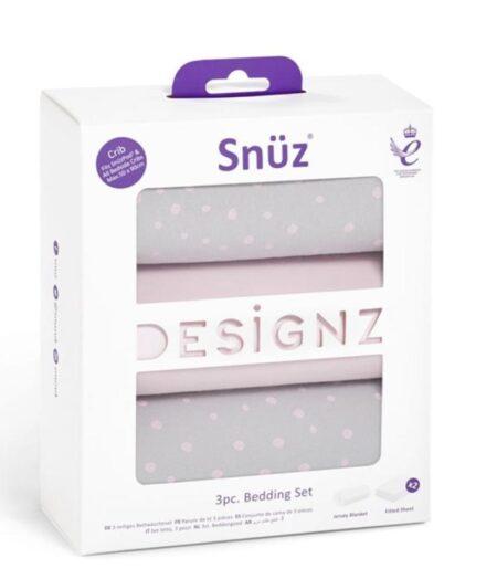 Snuzpod 3 Piece Crib Bedding Set - Pink Spot