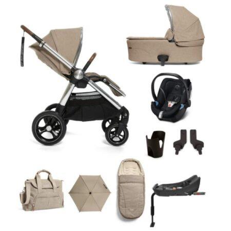 Mamas & Papas Ocarro 9 piece Kit Cybex Aton 5 and Base- Cashmere