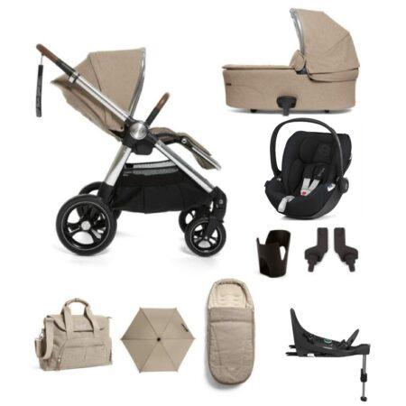 Mamas & Papas Ocarro 9 piece Complete Kit Cloud Z and Base- Cashmere