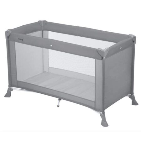 Safety 1st Soft Dreams Grey Travel Cot 120 x 60 standard cot size