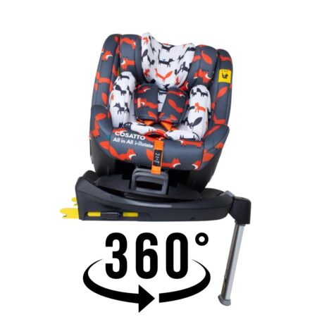 Cosatto All in All I-Rotate Mister Fox Spin 360 Group 0+/1/2/3 I-Size Car Seat