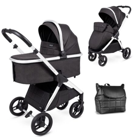 Venicci Insevio Dolphin 2 in 1 Pushchair & Carrycot - Black Pearl
